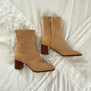 NEVER WORN OUTSIDE H&M Square Ankle Boots